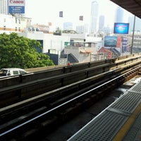 Photo taken at BTS Saphan Taksin (S6) by Mae H. on 2/1/2012