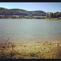 Photo taken at Happurger Stausee by Simon on 9/8/2012