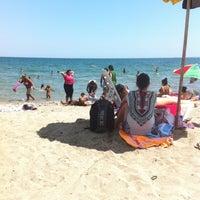 Photo taken at Северен Плаж (North Beach) by Petia I. on 8/5/2012