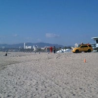 Photo taken at Santa Monica Beach Tower 26 by Sarah I. on 2/20/2012
