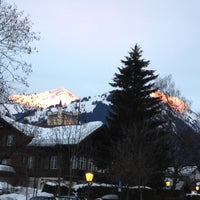 Photo taken at Bahnhof Gstaad by Nicolas B. on 2/25/2012