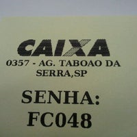 Foto tomada en Caixa Econômica Federal por Marcelo M. el 2/14/2012