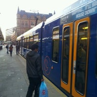 Photo taken at Cathedral Tram Stop by Mike G. on 10/16/2011