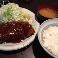 Photo taken at とんかつ 奥三河 by Tsuda K. on 6/12/2012