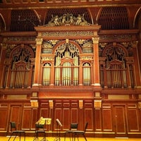 Photo taken at New England Conservatory's Jordan Hall by Lora R. on 2/18/2012