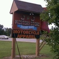 Photo taken at J & J Western Store by Tina B. on 9/18/2011