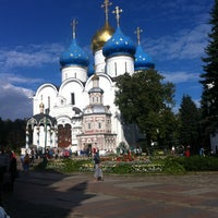 Photo taken at The Holy Trinity-St. Sergius Lavra by Elena M. on 8/25/2012