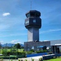 Photo taken at Aeroporto de Joinville / Lauro Carneiro de Loyola (JOI) by Thiago K. on 5/10/2012