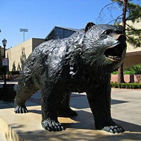 Photo taken at UCLA Bruin Statue by Ben B. on 1/26/2012