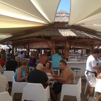 Photo taken at Playa Miguel Beach Club by Pedro Jose G. on 9/3/2012