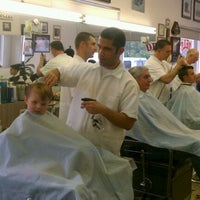 Photo taken at Del's Barber Shop by Mary B. on 1/21/2012