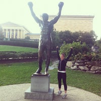 Photo taken at Rocky Statue by Kevin K. on 10/15/2011