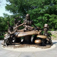 Photo taken at Alice in Wonderland Statue by Lindsay K. on 5/28/2012