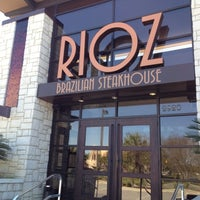 Photo taken at Rioz Brazilian Steakhouse by Kristin W. on 3/6/2012
