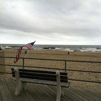 Photo taken at Asbury Park Beach by Jim G. on 9/11/2011