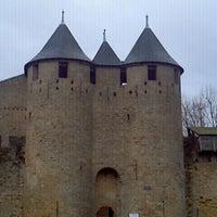 Photo taken at Château Comtal de la Cité de Carcassonne by Mauricio G. on 12/20/2011