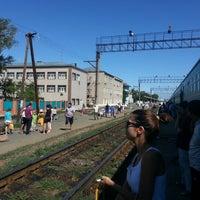 Photo taken at Kandyagash Train Station by Zhan X. on 7/19/2012