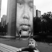 Photo taken at Crown Fountain by Norman E. on 8/9/2012