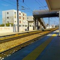 Photo taken at Gare Tahar Sfar by Nabil B. on 5/17/2012