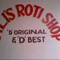 Photo taken at Ali's Roti Shop by Nyssa M. on 6/11/2012