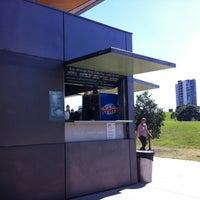 Photo taken at Sydney Park Kiosk by Damon on 3/31/2012