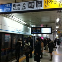 Photo taken at Chongshin Univ.(Isu) Stn. by kim y. on 2/13/2012