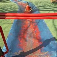 Photo taken at Frick Park Blue Slide Playground by Derrick P. on 3/20/2012