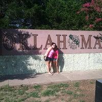 Photo taken at Oklahoma / Texas Border by Esme M. on 6/19/2012