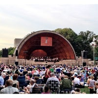 Photo taken at DCR Hatch Memorial Shell by Claudia on 8/8/2012
