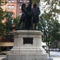 Photo taken at Lafayette-Washington Statue by Justin M. on 9/3/2012