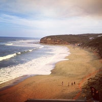 Photo taken at Bells Beach by Lachie R. on 4/4/2012