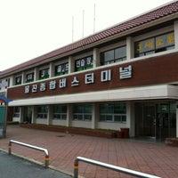 Photo taken at 울진종합버스터미널 by Heedong k. on 4/11/2012