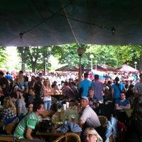 Photo taken at Zahrádky a restaurace Riegrovy sady – Park Café by Dusan M. on 5/20/2012