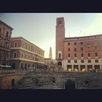 Photo taken at Piazza Sant'Oronzo by Marco R. on 8/18/2012