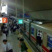 Photo taken at Midosuji Line Yodoyabashi Station (M17) by Bunji Y. on 8/30/2012