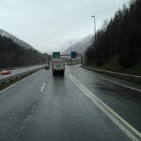 Photo taken at Gotthard Strassentunnel by René S. on 4/4/2012