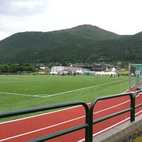 Photo taken at Stordal Stadion by Trond S. on 7/1/2012