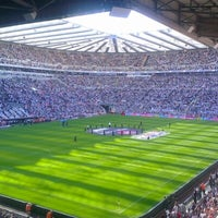 Photo taken at St James' Park by Steven R. on 8/18/2012