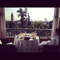 Photo taken at La Mamounia by Julia V. on 5/1/2012