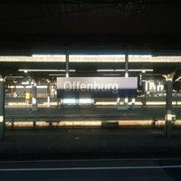 Photo taken at Bahnhof Offenburg by Manuel S. on 10/14/2011