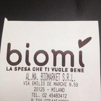 Das Foto wurde bei Biomì von Andrea R. am 7/19/2012 aufgenommen