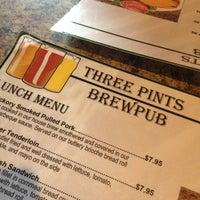 Photo taken at Three Pints Brewpub by Sue N. on 3/17/2012