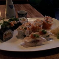 Photo taken at Moshi Moshi Sushi by Leslie W. on 12/6/2011
