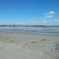 Photo taken at Easton's Beach by Thaddeus B. on 10/21/2011