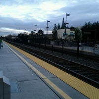 Photo taken at California Ave Caltrain Station by Shan on 1/27/2012