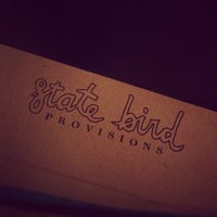 Photo taken at State Bird Provisions by Frederik H. on 2/23/2012
