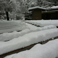 Photo taken at Yosemite Valley Lodge by Laurie G. on 3/18/2012