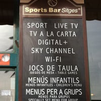 Das Foto wurde bei Sports Bar Sitges von Manolo D. am 1/6/2012 aufgenommen