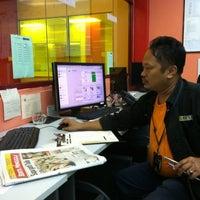 Photo taken at Pre Press Nstp Balai Berita 2 by Muzaffar G. on 3/19/2011