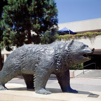 Photo taken at UCLA Bruin Statue by UCLA on 9/12/2011